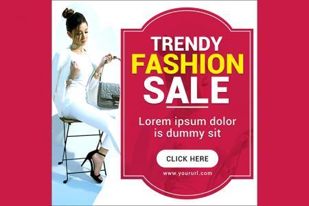 Download banner quảng cáo thời trang đẹp cho Marketing online- Mẫu 4