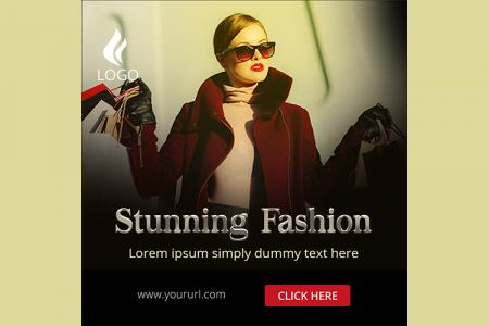 Mời tải về mẫu PSD banner quảng cáo thời trang đẹp miễn phí