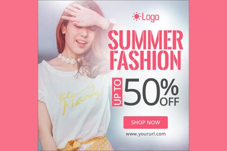 Free PSD banner quảng cáo thời trang hè 2019 lung linh nhất