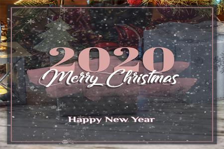 Free Download PSD chúc mừng năm mới và giáng sinh 2020 cực đẹp