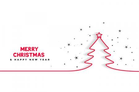 Vector Giáng Sinh Và Năm Mới - Vector Cây Thông Noel Đẹp
