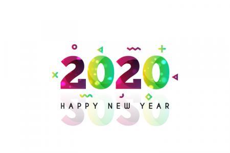 Tải Vector Chúc Mừng Năm Mới 2020 Đẹp, Sáng Tạo , Độc Đáo