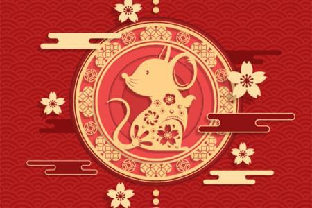 Chia Sẻ Vector Con chuột chúc tết 2020 Canh Tý Đẹp