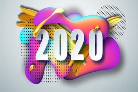 Download Vector Chúc Mừng Năm Mới 2020 Đẹp Miễn Phí