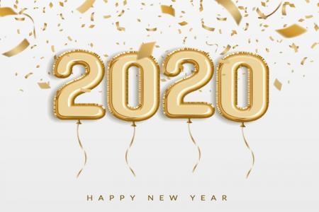 Chia sẻ Vector chúc mừng năm mới 2020 File AI Cực Đẹp