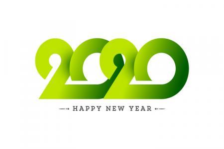 Vector Chúc Mừng Năm Mới 2020 Phong Cách Cắt GIấy Độc Đáo