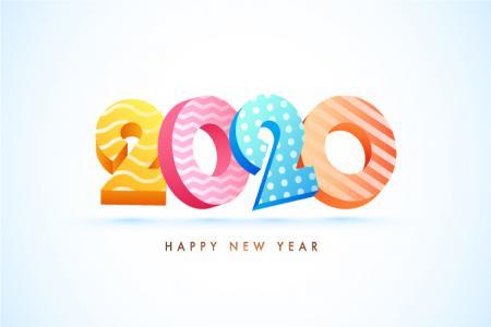 Chia Sẻ Vector Background Chúc Mừng Năm Mới 2020 Độc Đáo