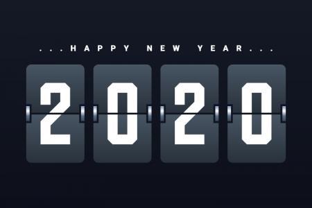 Download Vector Biểu Tượng 2020 Trang Trí Cho Năm Mới Đẹp