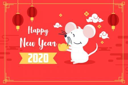 Chia Sẻ Vector Tết 2020, Vector Biểu Tượng Chuột Tết 2020