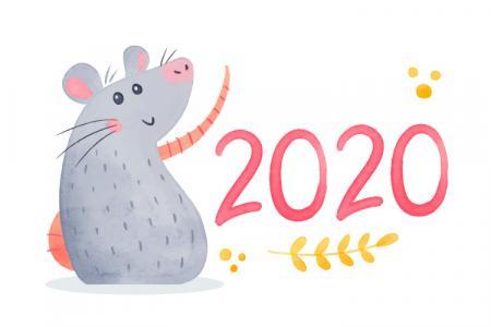 Download Vector Chuột Tết 2020 Đẹp Miễn Phí