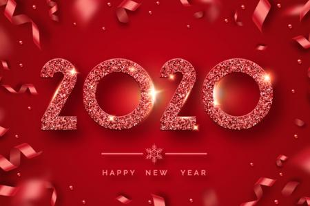 Vector Banner, Background Năm Mới 2020 Free Download