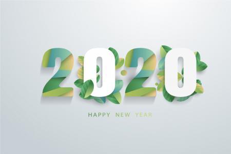 Download Vector Banner Năm Mới 2020 Đẹp Miễn Phí