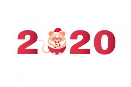 Download Vector Background Biểu Tượng Chuột Tết 2020 Đẹp