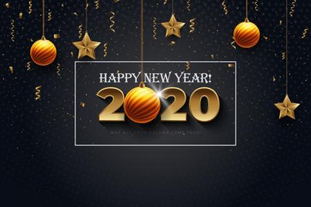 Chia sẻ Vector Chúc Mừng Năm Mới 2020 Miễn Phí