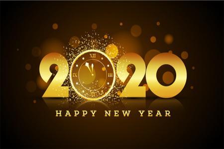 Vector 2020, Download Vector Chúc Mừng Năm Mới 2020 Miễn Phí