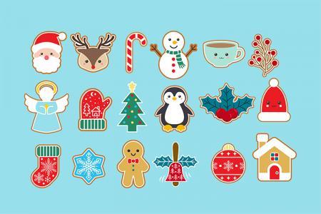 Tải Vector Icon Biểu Tượng Trang Trí Giáng Sinh Đẹp Miễn Phí