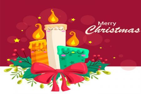 Free Vector Biểu Tượng Nến Chúc Mừng Giáng Sinh Đẹp nhất