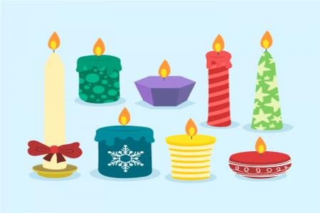 Download Vector Biểu Tượng Nến Trang Trí Giáng Sinh Miễn Phí
