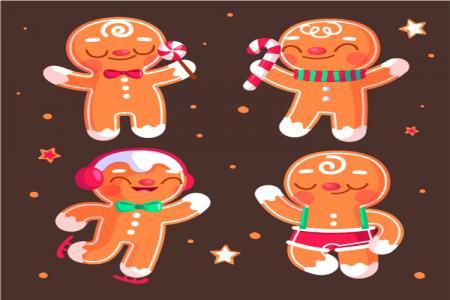 Chia Sẻ Vector Bánh Gừng Trang Trí Giáng Sinh Đẹp Lung Linh