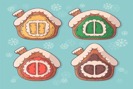 Tải Vector Biểu Tượng Nhà Bánh Gừng Giáng Sinh Tuyệt Đẹp