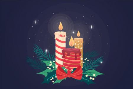 Download Vector Biểu Tượng Cây Nến Đẹp Trang Trí Giáng Sinh Free