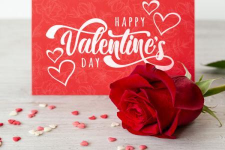 Download PSD thiệp valentine và hoa hồng đẹp miễn phí