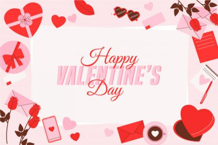 Download vector background valentine đẹp miễn phí