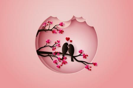 Download vector valentine 3D đẹp miễn phí
