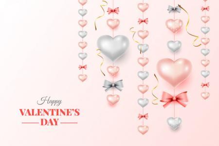 Download vector trái tim bong bóng valentine đẹp miễn phí