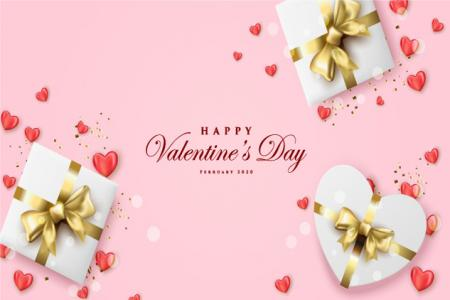 Download vector background hộp quà valentine đẹp