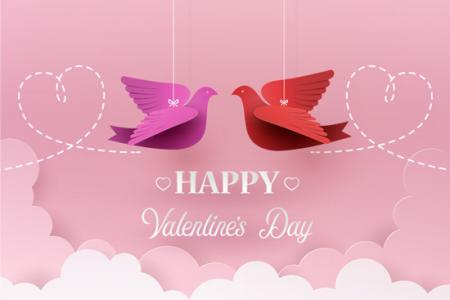 Vector background valentine đẹp miễn phí