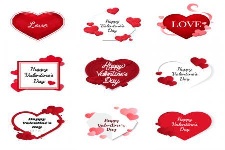Chia sẻ vector biểu tượng trái tim trang trí valentine đẹp