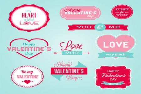 Download vector trang trí valentine đẹp free