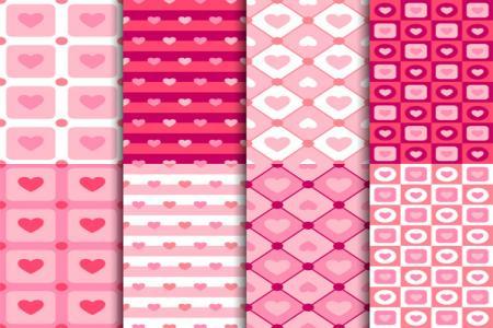 Vector nền hoa văn trái tim trang trí valentine đẹp free