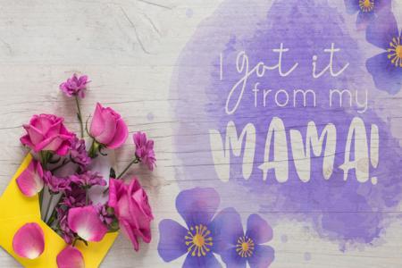 PSD backgroud đẹp tặng mẹ nhân ngày 8-3