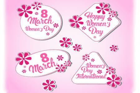 Vector chữ chúc mừng ngày quốc tế phụ nữ 8-3 đẹp