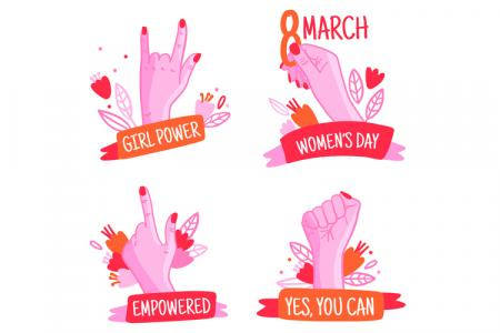 Dowload vector trang trí ngày quốc tế phụ nữ 8-3 free