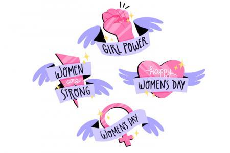 Vector trang trí ngày quốc tế phụ nữ 8-3 độc đáo