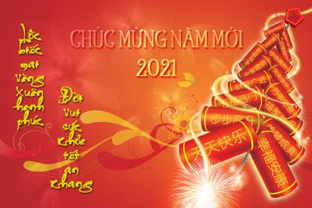 Share file PSD background chúc mừng năm mới 2021