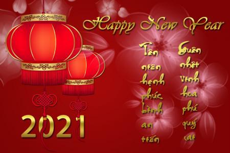 Chia sẻ PSD chúc mừng năm mới - Happy New Year 2021