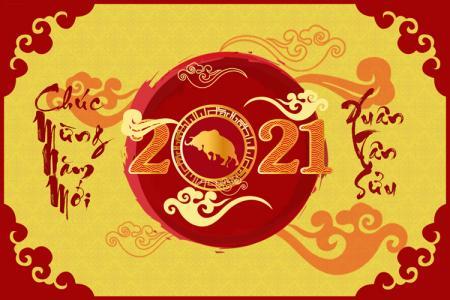 Download PSD Chúc Mừng Năm Mới 2021 đẹp