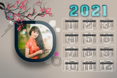 Free PSD Lịch Năm Mới 2021 - PSD Lịch Để Bàn 2021