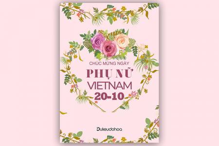 Share file PSD background chúc mừng ngày Phụ nữ Việt Nam