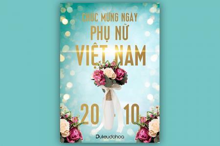 Download file PSD background chúc mừng ngày Phụ nữ VN 20/10