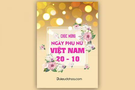 Share PSD chủ đề 20/10 - PSD chúc mừng ngày Phụ nữ đẹp lung linh