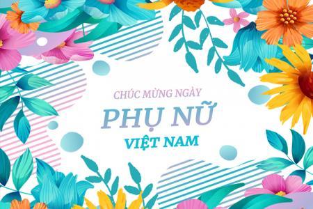 Tải PSD phông nền chúc mừng 20/10 - Ngày Phụ nữ Việt Nam