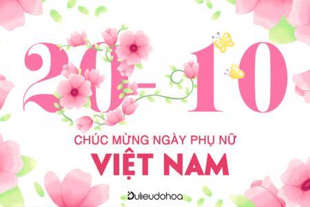 PSD hình ảnh thiệp chúc mừng ngày Phụ nữ Việt Nam