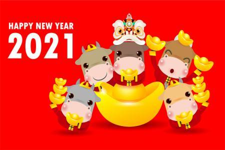 Tải vector background năm mới Tân Sửu 2021