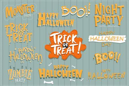 Chia sẻ vector chữ trang trí Halloween đẹp lung linh