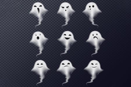 Con ma Halloween file vector (AI) tải miễn phí